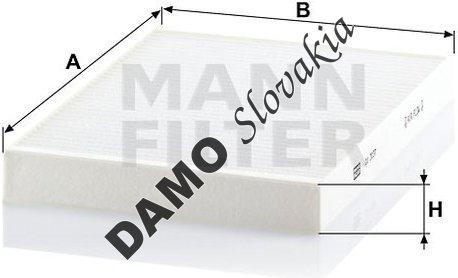 Kabínový filter MANN FILTER CU 3037