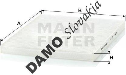 Kabínový filter MANN FILTER CU 3059