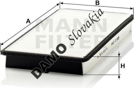 Kabínový filter MANN FILTER CU 3340