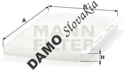 Kabínový filter MANN FILTER CU 3455