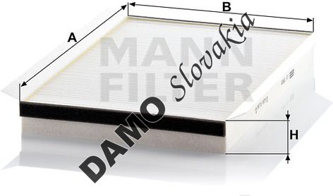 Kabínový filter MANN FILTER CU 3569
