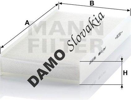 Kabínový filter MANN FILTER CU 3847
