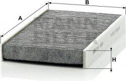 Kabínový filter MANN FILTER CUK 1629