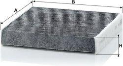 Kabínový filter MANN FILTER CUK 1827