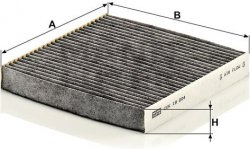 Kabínový filter MANN FILTER CUK 19 004
