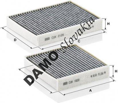 Kabínový filter CUK 21 000-2