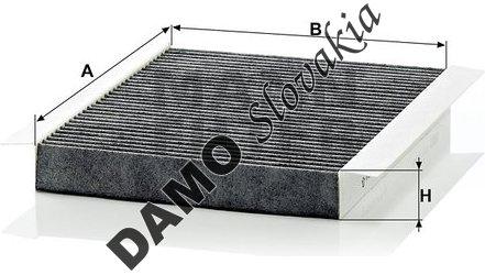 Kabínový filter CUK 2680