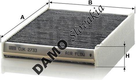 Kabínový filter MANN FILTER CUK 2733