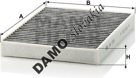 Kabínový filter CUK 2736-2