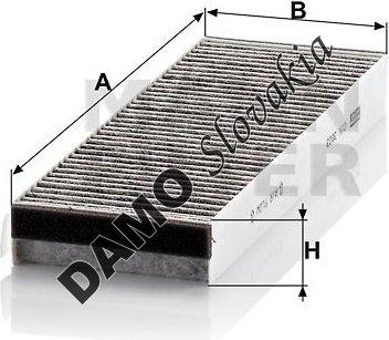 Kabínový filter CUK 3023-2