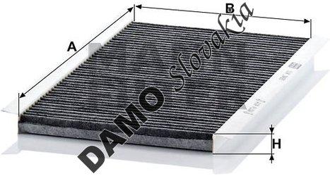 Kabínový filter CUK 3455