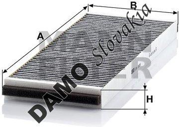 Kabínový filter CUK 3955