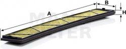 Kabínový filter MANN FILTER FP 6724