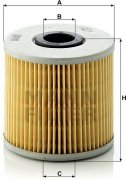 Olejový filter MANN FILTER H 1032/1 x