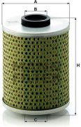 Olejový filter MANN FILTER H 1034/4