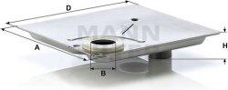 Filter automatickej prevodovky MANN FILTER H 1615/1 x KIT