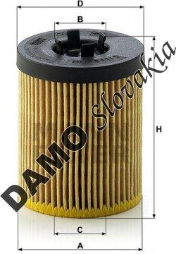 Olejový filter HU 611/1 x