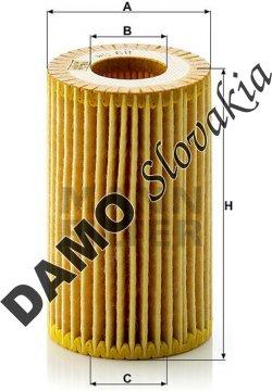 Olejový filter HU 611 x