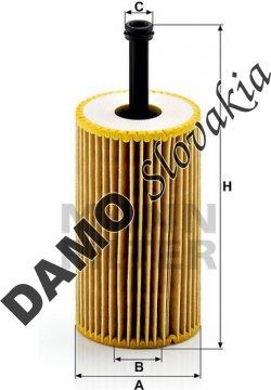 Olejový filter MANN FILTER HU 612 x