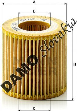 Olejový filter HU 710 x