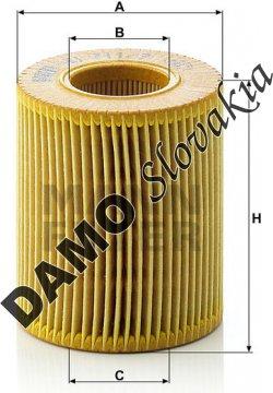 Olejový filter HU 711/2 x