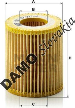Olejový filter HU 711/4 x