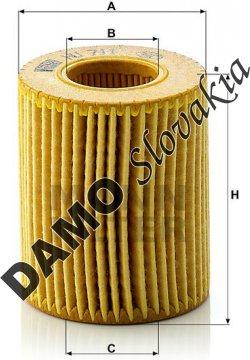 Olejový filter MANN FILTER HU 711 x