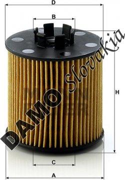 Olejový filter HU 712/6 x