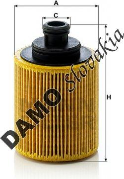 Olejový filter MANN FILTER HU 712/7 x