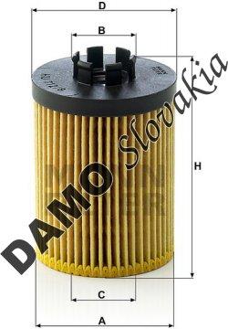 Olejový filter HU 712/8 x