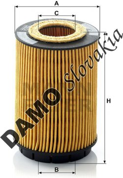 Olejový filter MANN FILTER HU 713 x