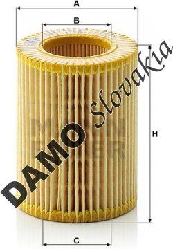 Olejový filter MANN FILTER HU 714 x