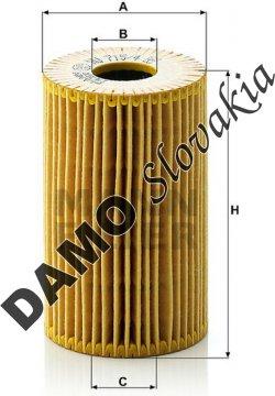 Olejový filter MANN FILTER HU 715/4 x