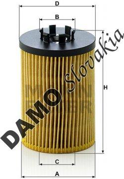 Olejový filter MANN FILTER HU 715/5 x
