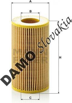 Olejový filter HU 718/1 k