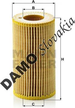 Olejový filter MANN FILTER HU 718/1 n