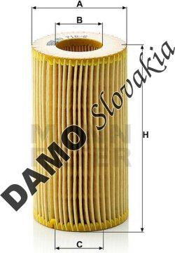 Olejový filter HU 718/6 x