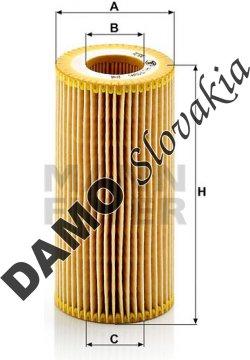 Olejový filter MANN FILTER HU 719/6 x