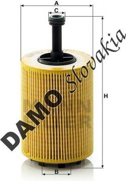 Olejový filter MANN FILTER HU 719/7 x