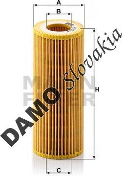 Olejový filter HU 721/4 x