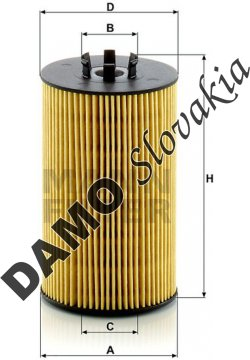 Olejový filter MANN FILTER HU 8012 z