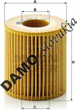 Olejový filter MANN FILTER HU 815/2 x