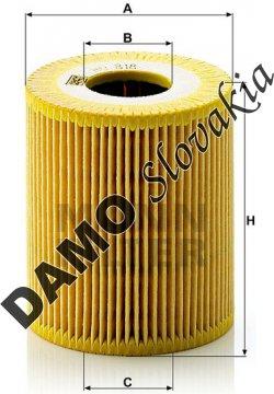 Olejový filter MANN FILTER HU 818 x