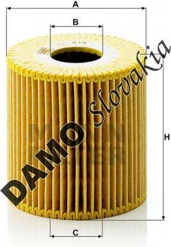 Olejový filter HU 819 x