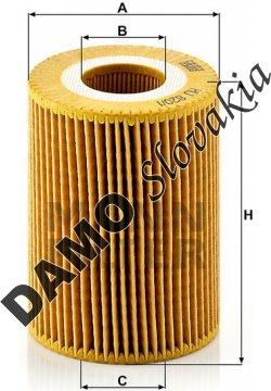 Olejový filter MANN FILTER HU 820/1 y