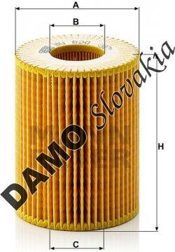 Olejový filter HU 820 x