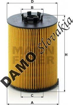Olejový filter MANN FILTER HU 823 x