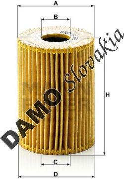 Olejový filter MANN FILTER HU 825 x