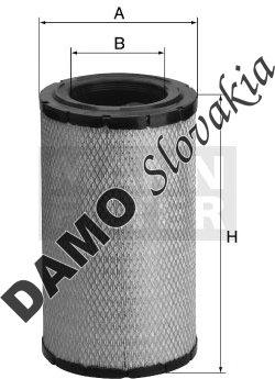 Vzduchový filter MANN FILTER C 17 337