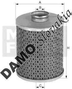 Olejový filter MANN FILTER H 15 190/6